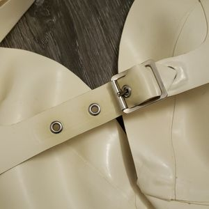 Murray & Vern Other - Cream Latex Bra and High Waist Panty Rubber